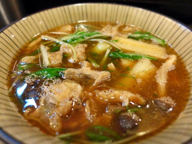 自己流ラーメン 綿麺@70焼きネギと油かすのつけ麺(大)(綿金ナイト) その2 3