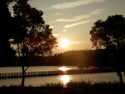 早朝の高原