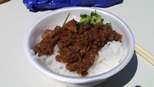 ④台湾風肉みそライス