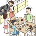 夕飯の食卓(変換後)