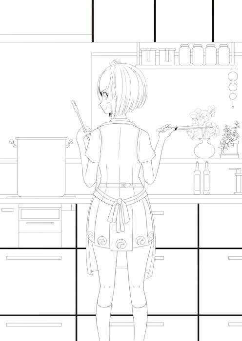 イラスト−103−台所みょん のコピー