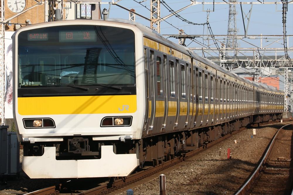 E231系 ミツA520編成 2014 10/28