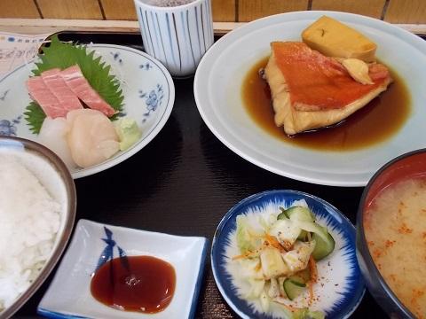 キンメの煮付け&刺身定食@乃んき