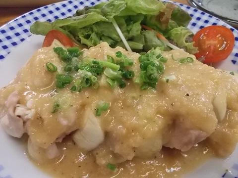 亀松の鶏とナスの挟み焼き