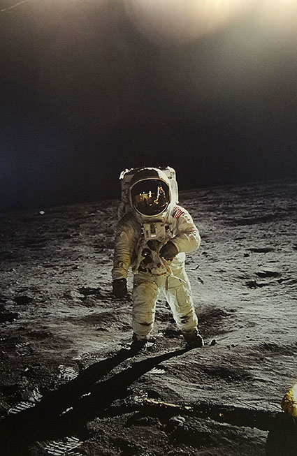 月面着陸写真