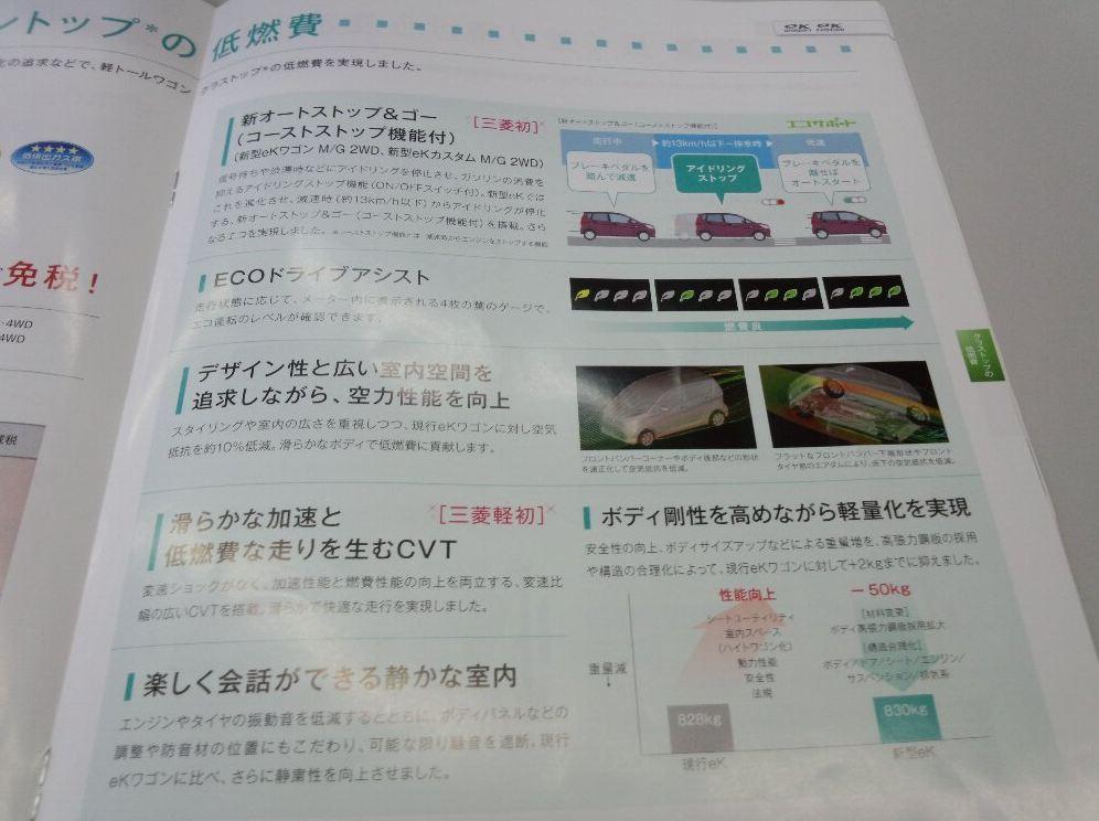 三菱新型ekワゴン パンフレット4