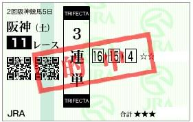 阪神牝馬S三連単