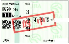 阪神牝馬S三連複