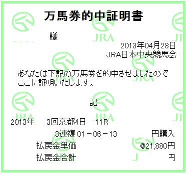 天皇賞(春)三連複