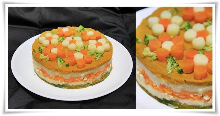 かぼちゃとじゃがいものケーキ