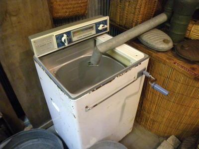 昔の洗濯機