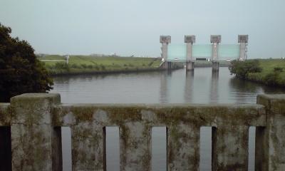 橋からの青水門