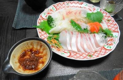 刺身&梅肉醤油