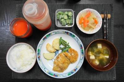 鶏胸肉のミラノカツ風 夕ご飯