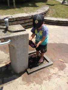 水遊び@近所の公園