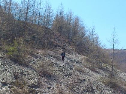 タイスケは土手に上って寄り道。。。