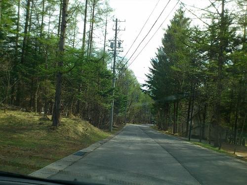別荘地の道々