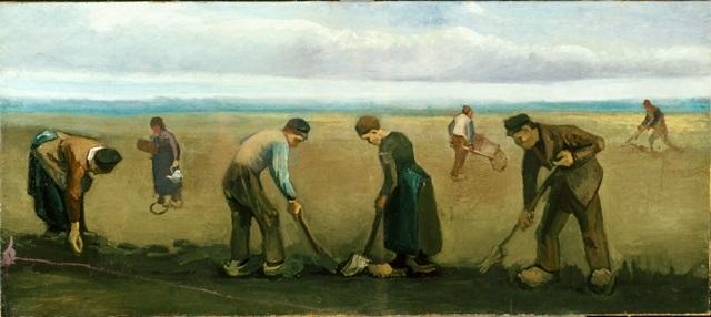 Vincent van Gogh_Contadini che piantano patate_1884