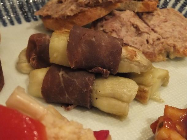 焼き茄子と牛肉