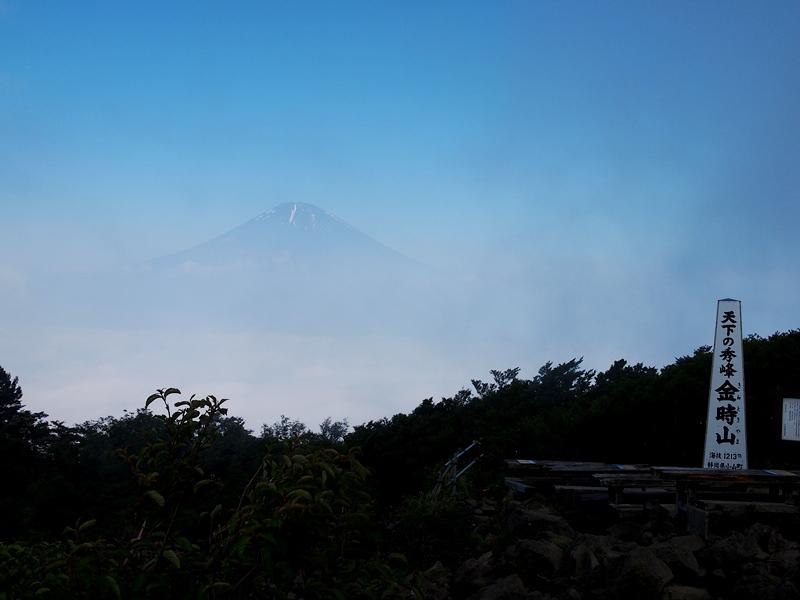 山頂からの富士