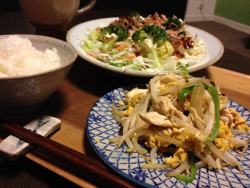 Oct20_鶏ササミとモヤシ炒め