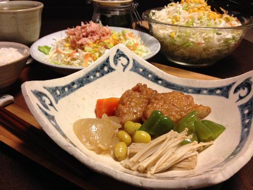 Oct21_さつま揚げと野菜の煮物