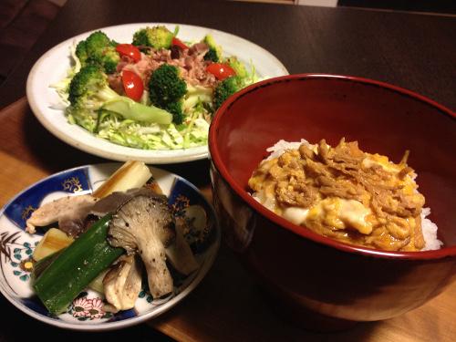 Oct30_鶏ささみの親子丼