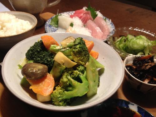Nov27_カレー風味の野菜炒め