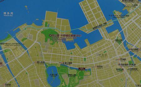 福岡城の地図