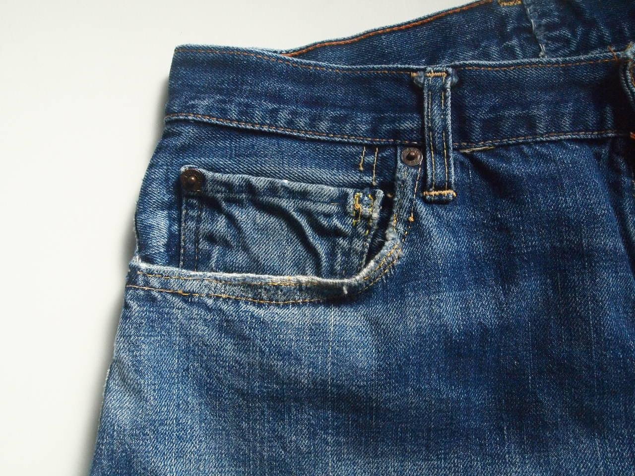ヴィンテージリーバイスビッグEのコインポケット