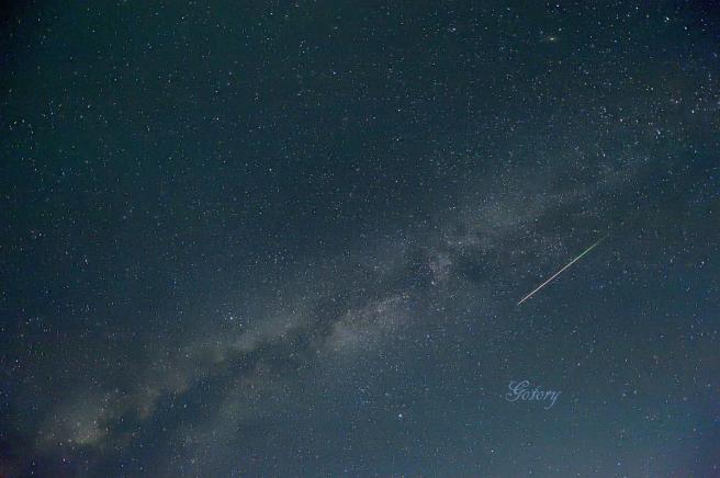 夏の大三角とペルセウス流星