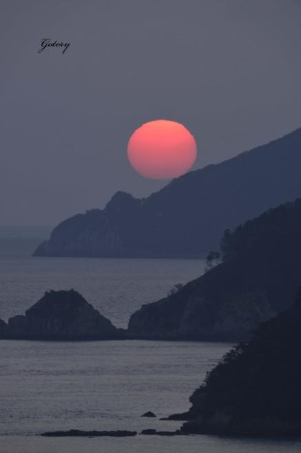 南河原の朝陽