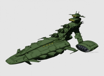 ムサイ級軽巡洋艦初期量産型イオージマ
