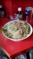 豚入り小ラーメン麺少なめ 野菜、辛め、アブラ増し