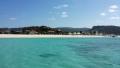 海から見たオクマビーチ(2)