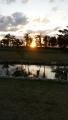 パークゴルフ場から見た夕日
