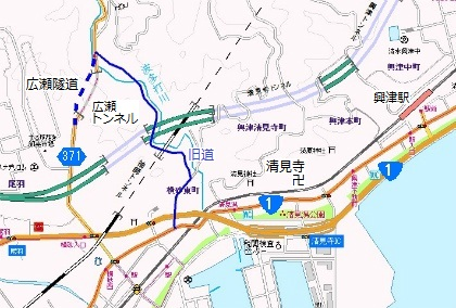 廣瀬隧道地図