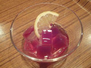 紫芋とレモン寒天ゼリー
