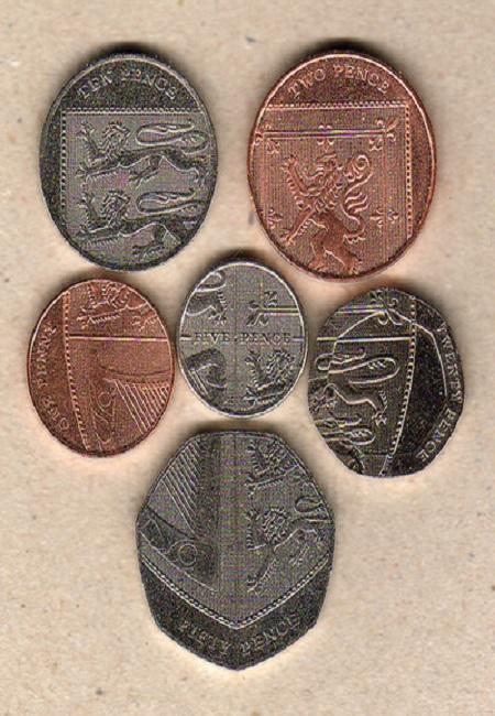 英国通常硬貨~