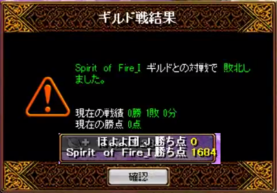 対 Spirit of Fire_I 14/1/23