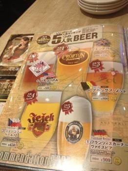 世界のビール博物館 メニュー