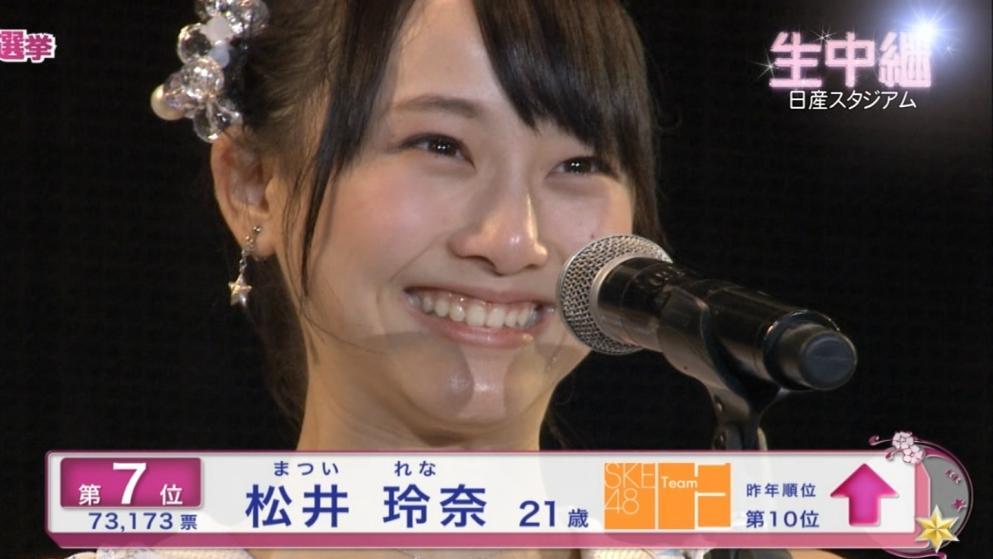 松井玲奈 7位 AKB選抜総選挙