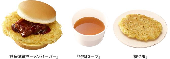麺屋武蔵ラーメンバーガー ロッテリア
