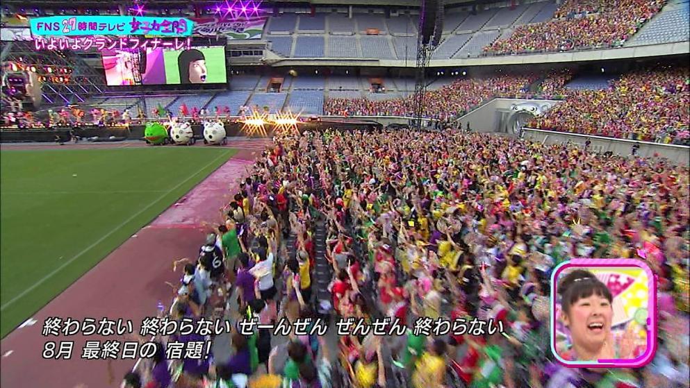ももクロ 日産スタジアム 27時間テレビ中継
