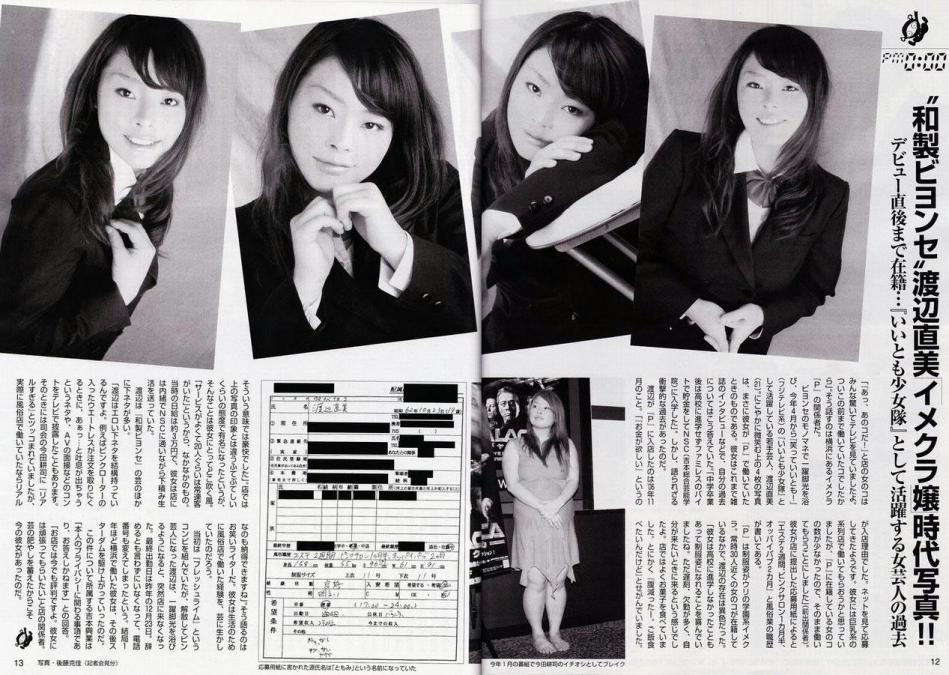 渡辺直美 履歴書