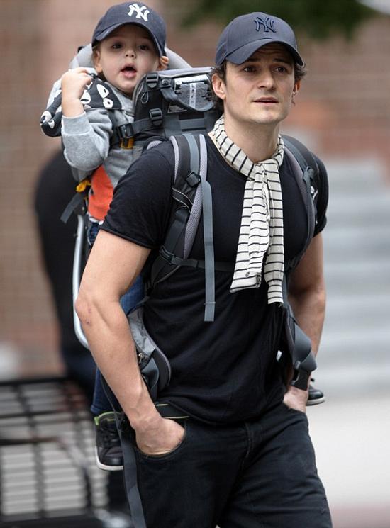 オーランド・ブルームと息子