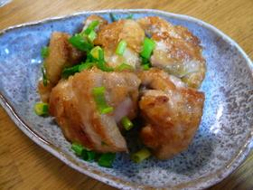 食べ過ぎ注意 鶏肉のねぎマヨポン炒め