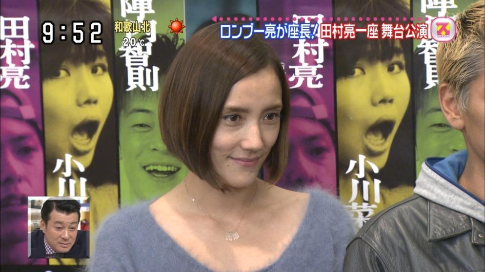 舞台「シンドロームで逢いましょう」の取材会での一色紗英と座長の田村亮