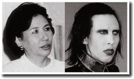 田中真紀子とマリリン・マンソン