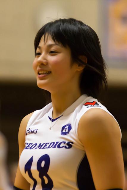 笑顔の吉村志穂選手